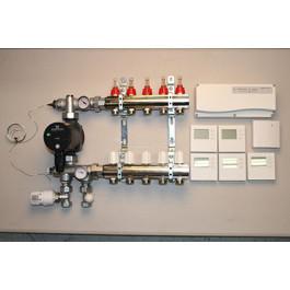 Gulvvarmestyring komplet system 5 kreds digital