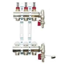 Golvvärmefördelare m Flowmeter - 3 kretsar