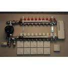 Värmestyrning golv komplett system - 10 kretsar - analog