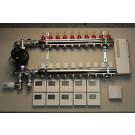Gulvvarmestyring komplet system 10 kreds digital