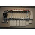 Värmestyrning golv komplett system - 11 kretsar - analog