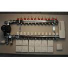 Värmestyrning golv komplett system - 12 kretsar - analog