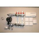 Värmestyrning golv komplett system - 4 kretsar - analog