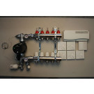 Värmestyrning golv komplett system - 5 kretsar - analog