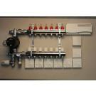 Värmestyrning golv komplett system - 7 kretsar - analog