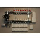 Värmestyrning golv komplett system - 8 kretsar - analog