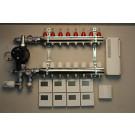 Gulvvarmestyring komplet system 8 kreds digital