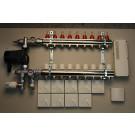 Värmestyrning golv komplett system - 9 kretsar - analog