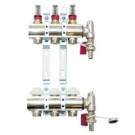 Golvvärmefördelare m Flowmeter - 4 kretsar